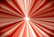 De rode en Witte Zonnestraal of uitbarsting van de Ster vector illustratie
