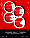 De rode en Zwarte affiche van aantallenkleuren Royalty-vrije Stock Afbeeldingen