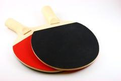 De rode en Zwarte Knuppels van de Pingpong Stock Foto