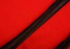 De rode en Zwarte Zijde, kan als achtergrond gebruiken Stock Afbeeldingen