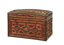De rode fluweel behandelde oude antiquiteit van de boomstamborst royalty-vrije stock afbeelding