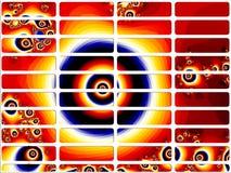 De rode Fractal van het Oog Knopen van de Website Royalty-vrije Stock Afbeeldingen