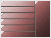 De rode Futuristische Knopen van de Steen van de Navigatie van de Website Royalty-vrije Stock Fotografie
