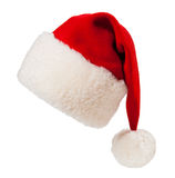 De rode geïsoleerde hoed van Kerstmissanta Royalty-vrije Stock Afbeelding