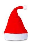 De rode geïsoleerdeE hoed van de Kerstman Royalty-vrije Stock Foto