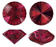De rode geïsoleerdes ster van de diamant Royalty-vrije Stock Afbeeldingen