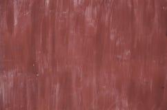 De rode geschilderde textuur van de metaaloppervlakte grunge Royalty-vrije Stock Foto