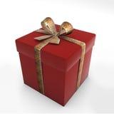 De rode gift van de doos in tijger royalty-vrije illustratie