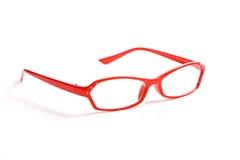 De rode Glazen van de Lezing Royalty-vrije Stock Afbeeldingen