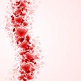 De rode golf van hartenconfettien stock illustratie