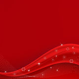 De rode Golf van Kerstmis Royalty-vrije Stock Afbeelding