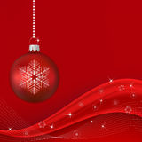 De rode Golf van Kerstmis Royalty-vrije Stock Fotografie