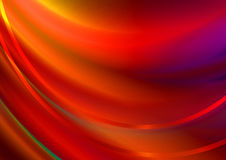 De rode golvende achtergrond behandelde golvende rode strepen Stock Afbeelding