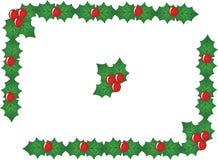 De rode grens van de Kerstmisbes, vector Royalty-vrije Stock Foto's