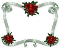 De rode Grens van de Uitnodiging van het Huwelijk van Rozen vector illustratie