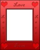 De rode Grens van het Frame van de Liefde van het Hart Stock Fotografie