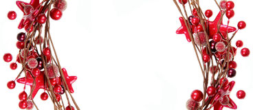 De rode grens van Kerstmis royalty-vrije stock foto's