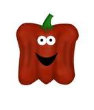 De rode Groene paprika van het Beeldverhaal royalty-vrije illustratie