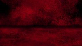 De rode Grunge-Muur en Achtergrond van Vloerloopable Intro stock videobeelden