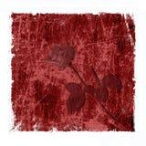 De rode grungy achtergrond met nam toe Royalty-vrije Stock Afbeeldingen