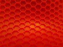 De rode Hexagon achtergrond met verdwijnt langzaam Royalty-vrije Stock Foto's