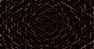 De rode Hexagonale Achtergrond van de Vloerlijn stock video