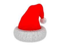 De rode hoed van de Kerstman `s vector illustratie