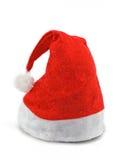 De rode hoed van Kerstmis op wit Stock Foto