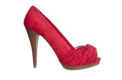 De rode hoge schoen van hielvrouwen royalty-vrije stock afbeeldingen