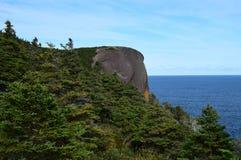 De Rode Hoofdrots Flatrock van de Killickkust royalty-vrije stock afbeeldingen
