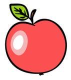 De rode Illustratie van de Appel. JPG en EPS vector illustratie