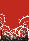 De rode Illustratie van Doornen Stock Afbeeldingen