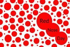 De rode illustratie van de neusdag met vele neuzen van verschillende grootte op een witte achtergrond stock illustratie