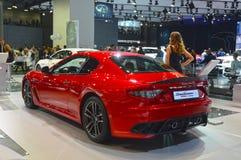 De rode Internationale Automobiele Salon van Automaserati Gran Turismo Moskou Royalty-vrije Stock Foto