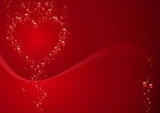 De rode Kaart van de Dag van Valentijnskaarten vector illustratie