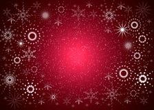 De rode kaart van Kerstmis Stock Foto