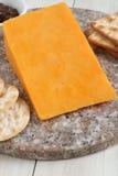 De rode kaas van Leicester Royalty-vrije Stock Foto's