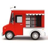 De rode kant van de voedselvrachtwagen Stock Fotografie