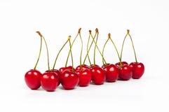 De rode kersen Royalty-vrije Stock Afbeeldingen