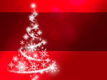 De rode Kerstboom van de Sneeuwvlok vector illustratie