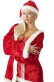 De rode Kerstman Stock Afbeeldingen