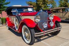 De rode klassieke auto van Packard van 1929 Stock Afbeeldingen