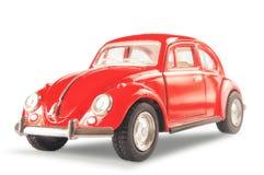 De rode klassieke Duitse auto op een witte achtergrond Stock Afbeeldingen