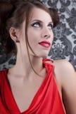 De rode kleding van het meisje Royalty-vrije Stock Fotografie