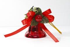 De rode Klok van Kerstmis Stock Foto's