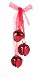 De rode Klokken van Kerstmis Royalty-vrije Stock Foto's