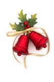 De rode Klokken van Kerstmis Stock Foto's