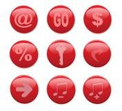 De rode knopen van het Web Royalty-vrije Stock Afbeelding