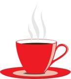 De rode Kop van de Koffie Royalty-vrije Stock Afbeeldingen