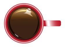De rode kop van de Koffie Royalty-vrije Stock Afbeelding
